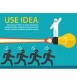 Use creative idea vector image vector image