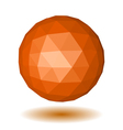 Abstract orange low polygonal sphere vector image
