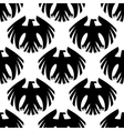 Black heraldic eagles seamless pattern vector image