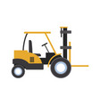 loader forklift truck cargo logistic equipment vector image