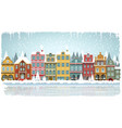 old houses winter vector image