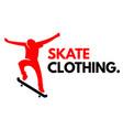 sport skate clothing human skate background vector image
