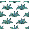 stylized plants in cartoon style seamless vector image
