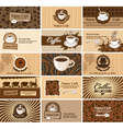 cards on coffee vector image vector image