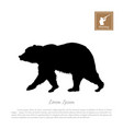 black silhouette of bear vector image
