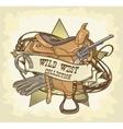 Wild West label vector image