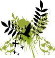 floral bird vector image vector image