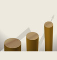 brown columns of diagrams with arrow graphics vector image