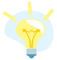 Bulb light idea icon vector image