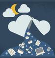 data leak cloud computing technology vector image