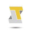 Double letter T icon vector image