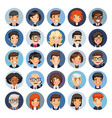 flat business round avatars on color vector image