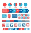 flat mobile infographics template vector image
