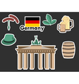German stickers Patches elements Germany vector image