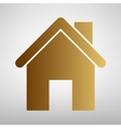 Home silhouette Flat style icon vector image