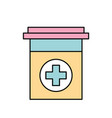 plastic container medicine cross pharmaceutical vector image