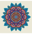 Round floral bright colored motif vector image