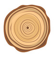 tree wood year ring isolated icon vector image