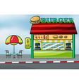 A fast food restaurant vector image vector image