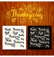Thanksgiving Lettering Postcards vector image