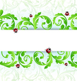 Eco friendly background with ladybugs vector image vector image