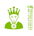 King Icon With Free Bonus vector image