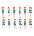 woman positive and negative emotions set vector image