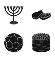minor box of sweets and other web icon in black vector image