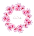 Nice watercolor floral wreath vector image vector image