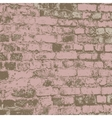 Brick wall of the house with lines laying vector image