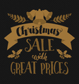 Christmas and seasonal retail poster vector image