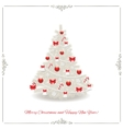 Christmas tree decorated in silver and red colors vector image