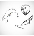 Eagles set vector image