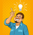guy with idea vector image