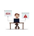 error 404 people cartoon laptop frustrated vector image