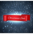 Christmas sale ribbon vector image