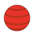 rubber ball icon image vector image