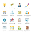 SEO and Internet Marketing Flat Icons - Set 5 vector image vector image