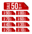 Sale percent sticker price tag flat design vector image