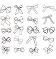 ribbons hand drawn vector image