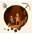Mining cartoon vector image