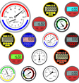 gauges and dials vector image vector image