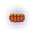 Cartridges hunting ammunition icon comics style vector image