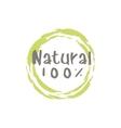 Percent Natural Food Label vector image