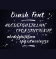 brush lettering alphabet vector image