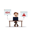 error 404 people cartoon laptop frustrated vector image