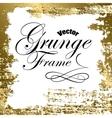 gold grunge frame vector image
