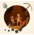 Mining cartoon vector image