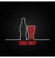 soda bottle splash design menu backgraund vector image