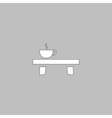 Tea time computer symbol vector image